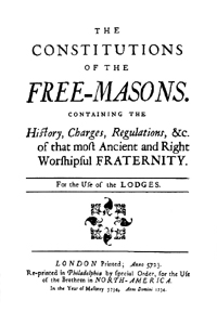 Anderson's Constitutions of Freemasons